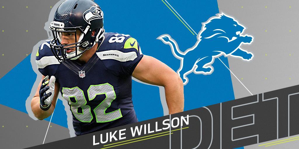 .@Lions to sign TE Luke Willson (@LWillson_82) to one-year $2.5M contract: https://t.co/Z03yJv4Fon (via @RapSheet) https://t.co/668FcniDzu