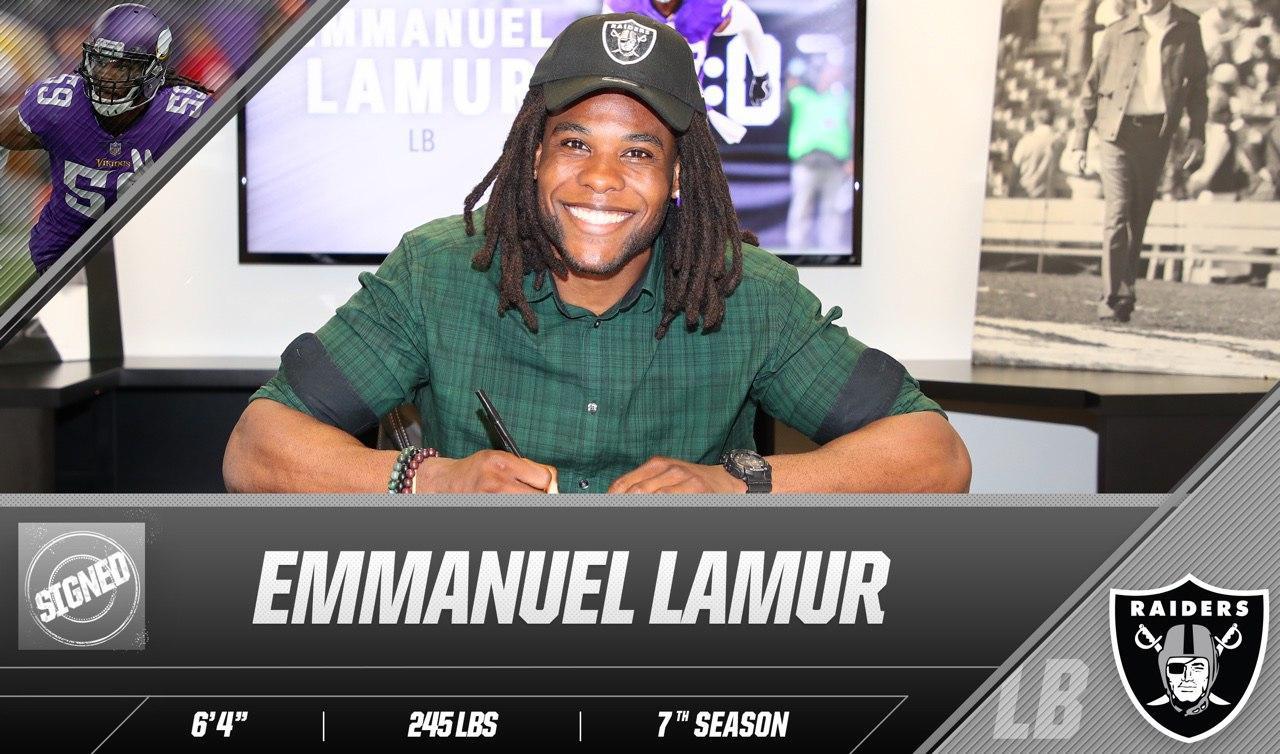 'Feels like home.' —@EmanLamur  The Raiders have signed LB Emmanuel Lamur: https://t.co/4eYbzKKtnP https://t.co/pfGmM5pd0F