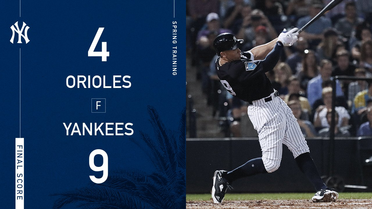 #StartSpreadingTheNews @TheJudge44 drops a flurry of homers in Tampa. https://t.co/P9zBeD4QE5