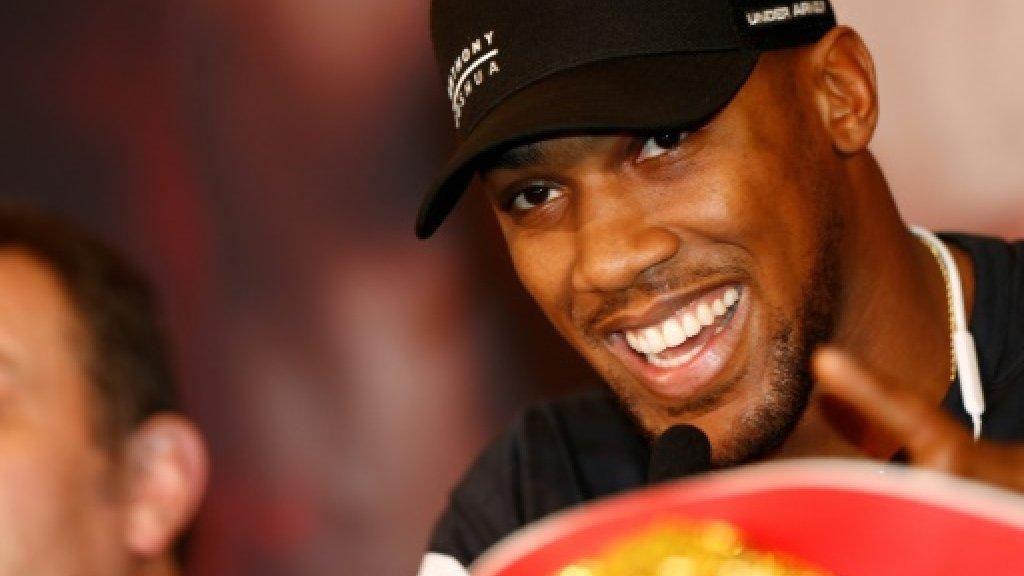 Joshua tells heavyweight rival Wilder to 'stop the fantasy'