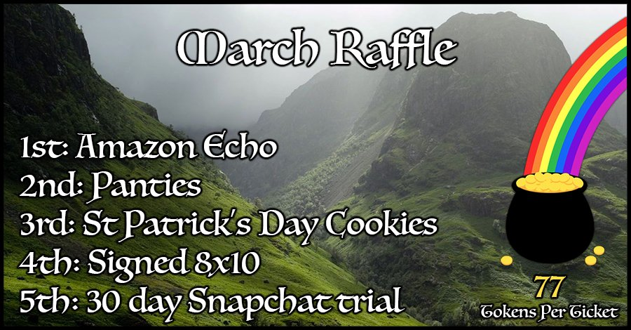 Less than two weeks until my March Raffle is over. Come get your tickets before it ends! JTVcHzIy4t
