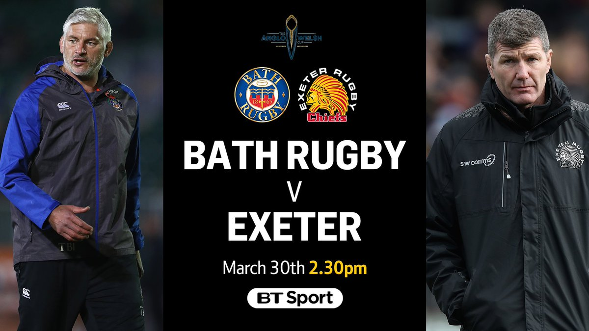 test Twitter Media - The Anglo-Welsh Cup Final has been rescheduled for Good Friday. 🛁 Bath Rugby vs. Exeter Chiefs 🏹 🗓️ March 30th https://t.co/rYPuQ6N9np