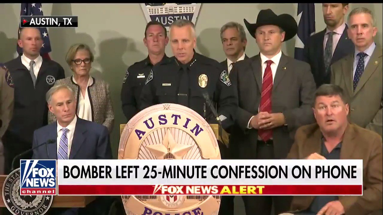 Austin bomber recorded 25-minute 'confession' to his deadly crimes, police say https://t.co/m5Xndry5uk https://t.co/jwIkpJZvE2