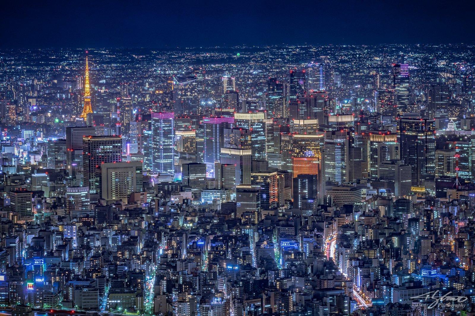 Dense Skyscrapers, Central of Tokyo at Night  東京中心部の密集した摩天楼群の夜景を。東京タワーや、国会議事堂も。  #Photography #Pentax #NightView #Nightscape #Cityscape #Tokyo #夜景 #写真撮ってる人と繋がりたい #ファインダー越しの私の世界 https://t.co/sOZHCRhsvA
