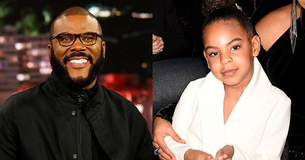 Tyler Perry was not about to let Blue Ivy Carter outbid him for a 5-figure piece of art: