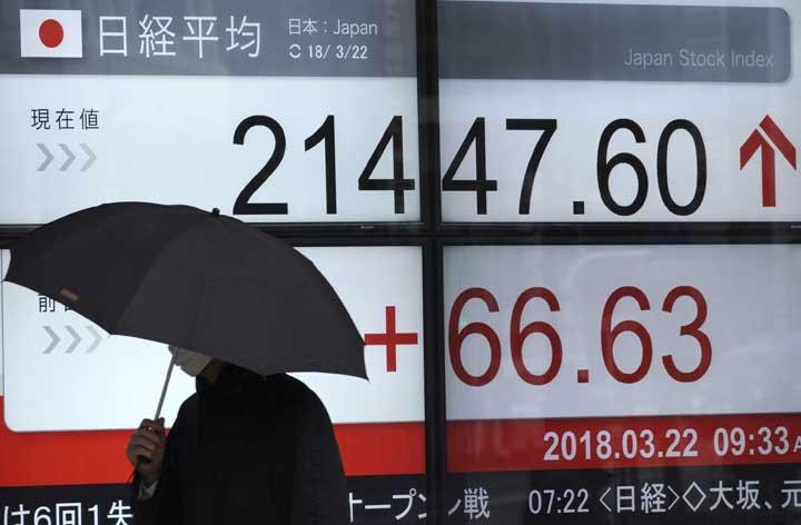 @BroadcastImagem: Bolsas asiáticas fecham sem direção única após decisão monetária do Fed. Eugene Hoshiko/AP