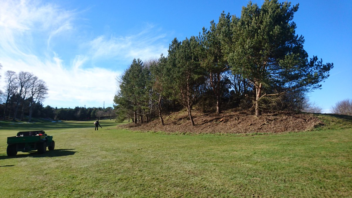 test Twitter Media - In between coring and aeration work we managed to improve the right side of the 11th fairway. Colin and his merry band of lumberjack helpers have put paid to the troublesome blackthorn bushes. https://t.co/JzUMr3J0lO