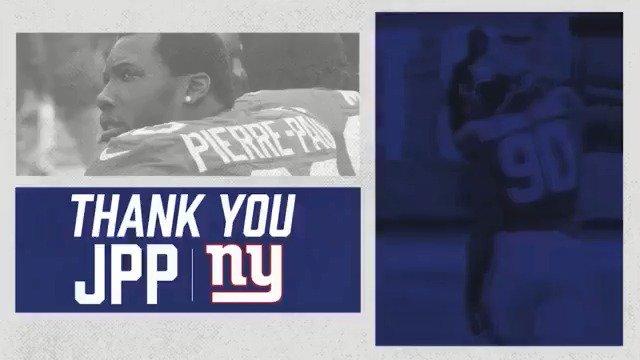 Thank You, JPP! - 8 seasons - 2X Pro Bowler - 2011 First-Team All-Pro - Super Bowl XLVI Champion https://t.co/mBLvxj4vRK