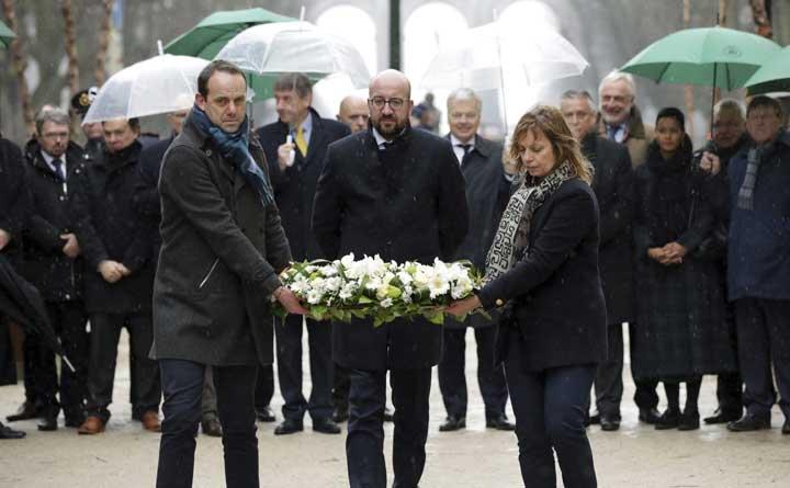 @BroadcastImagem: Bruxelas lembra 2° aniversário dos atentados com homenagem às vítimas. Olivier Matthys/AP