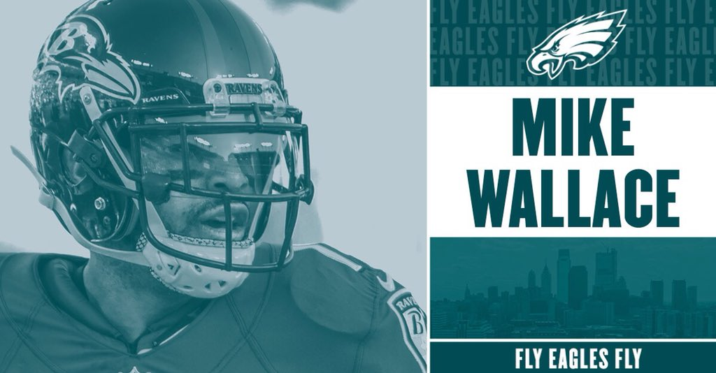 The #Eagles have agreed to terms with WR Mike Wallace on a one-year deal.   �� https://t.co/Y8iLDky5H6 https://t.co/XjfoLbs05G
