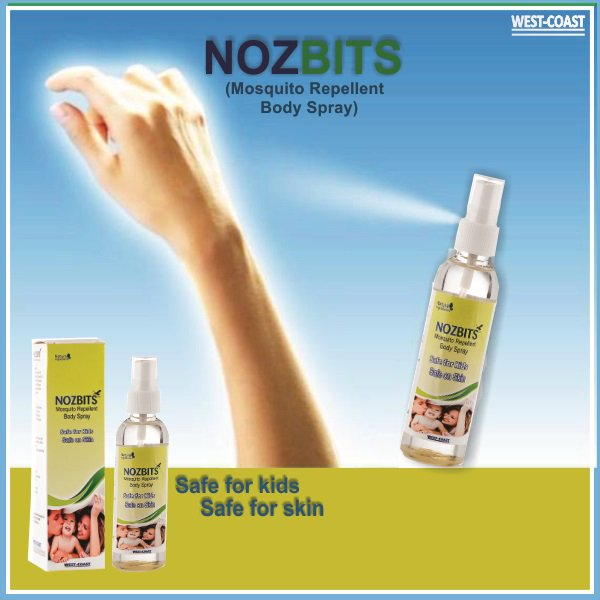 test Twitter Media - A single bite of #Mosquito can make you seriously ill. They spread diseases like #Malaria #Dengue #Zika virus etc. so Westcoast Suggests #Nozbits  Spray (Mosquito Repellent #BodySpray) #Safe for kids Safe for skin #NozbitsSpray @westcoastpharma #westcoast #westcoastpharmaceutical https://t.co/tXh4eryUe7