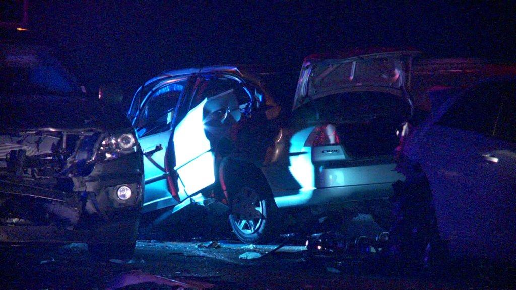 One dead after a multi-vehicle crash on TurnerTurnpike