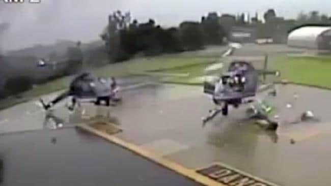 Two US police helicopters destroyed after rotor blades collide
