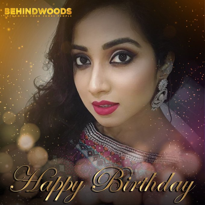 Happy bday shreya ghoshal mam wht a voice I m big big fan of you