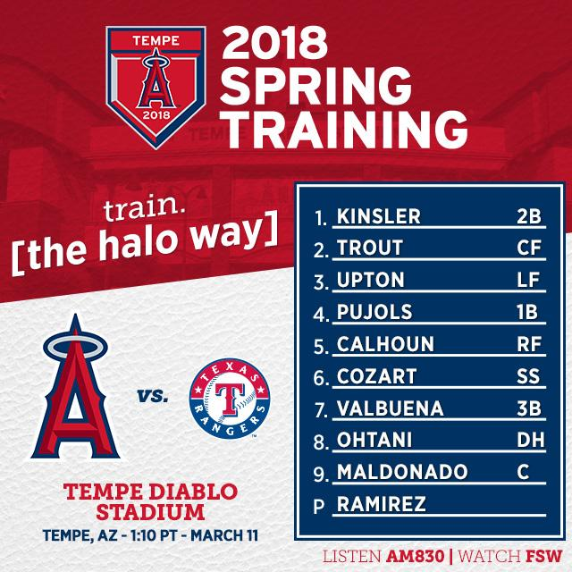 This afternoon's #Angels lineup. #LAASpring  Game Preview: https://t.co/gVUqkJ3iOa https://t.co/DFYsK9ao4E