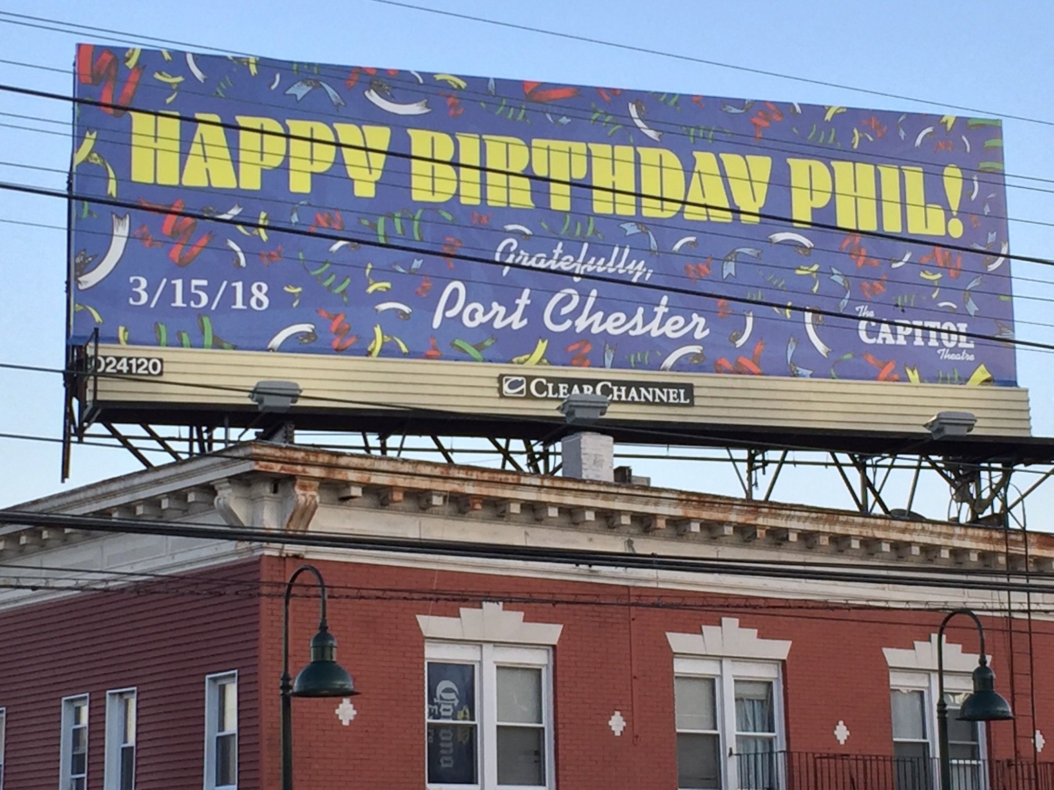 Wow, happy birthday Phil Lesh.  Nice sign in Port Chester.