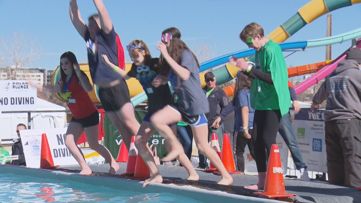 High School Students Take Frigid Plunge In The Name Of Special Olympics