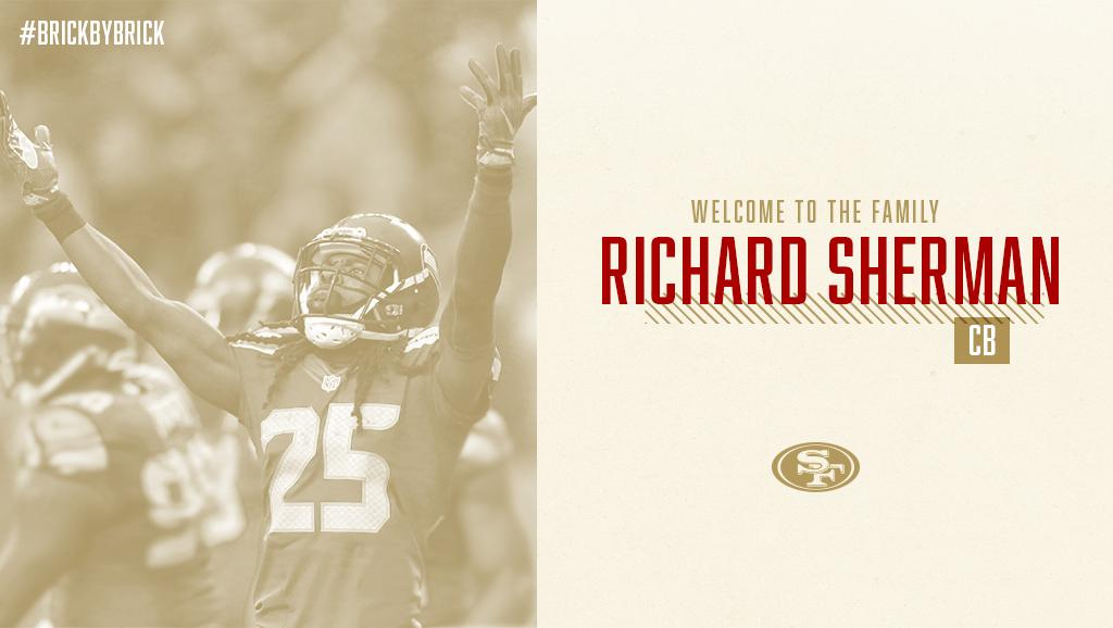 IT'S OFFICIALLY OFFICIAL!   Welcome to the family @RSherman_25 https://t.co/tH1Db3stLm https://t.co/itpB77fzGT