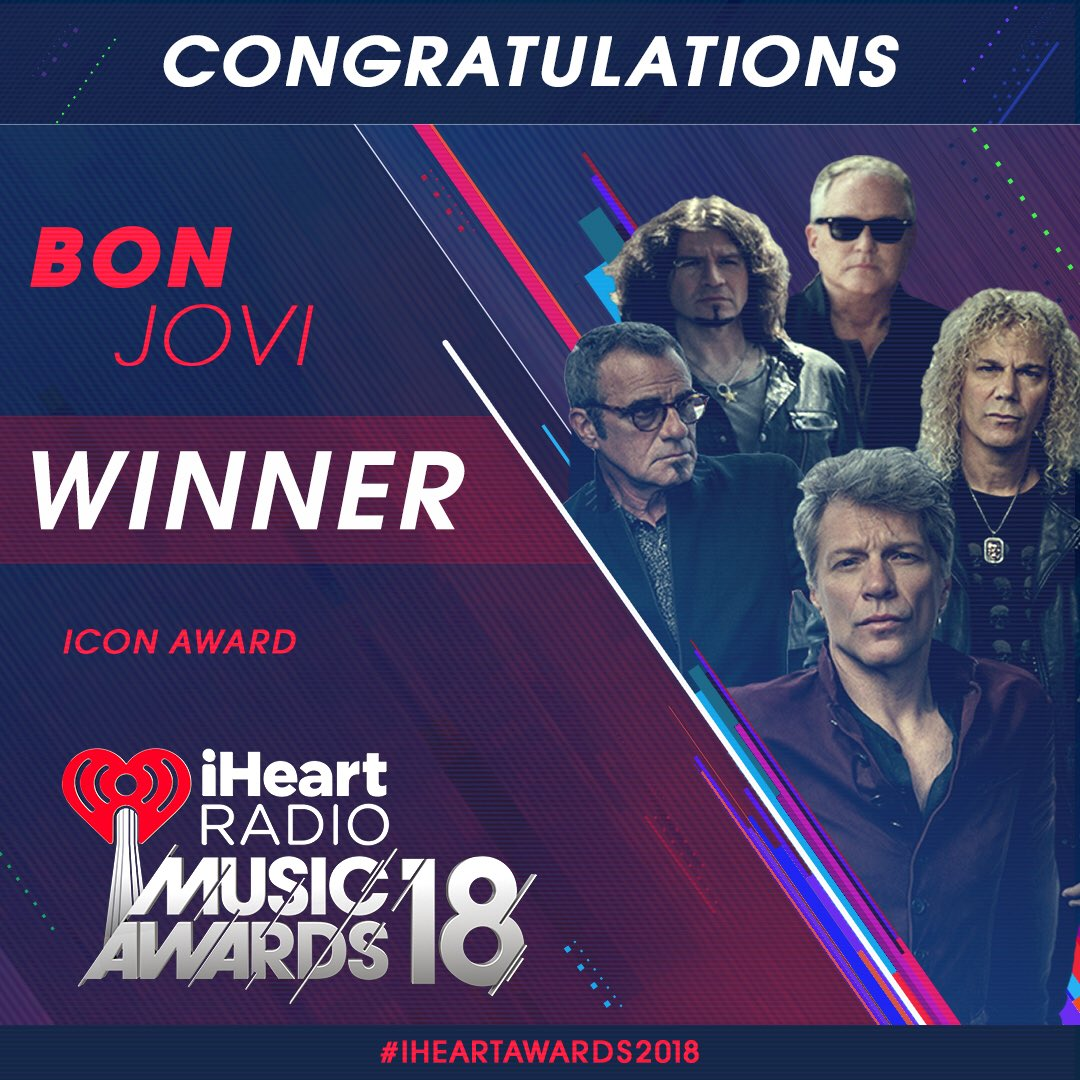 It was a great night. Thank you, @iHeartRadio! #iHeartAwards2018 https://t.co/Qvzj0Dp0LY