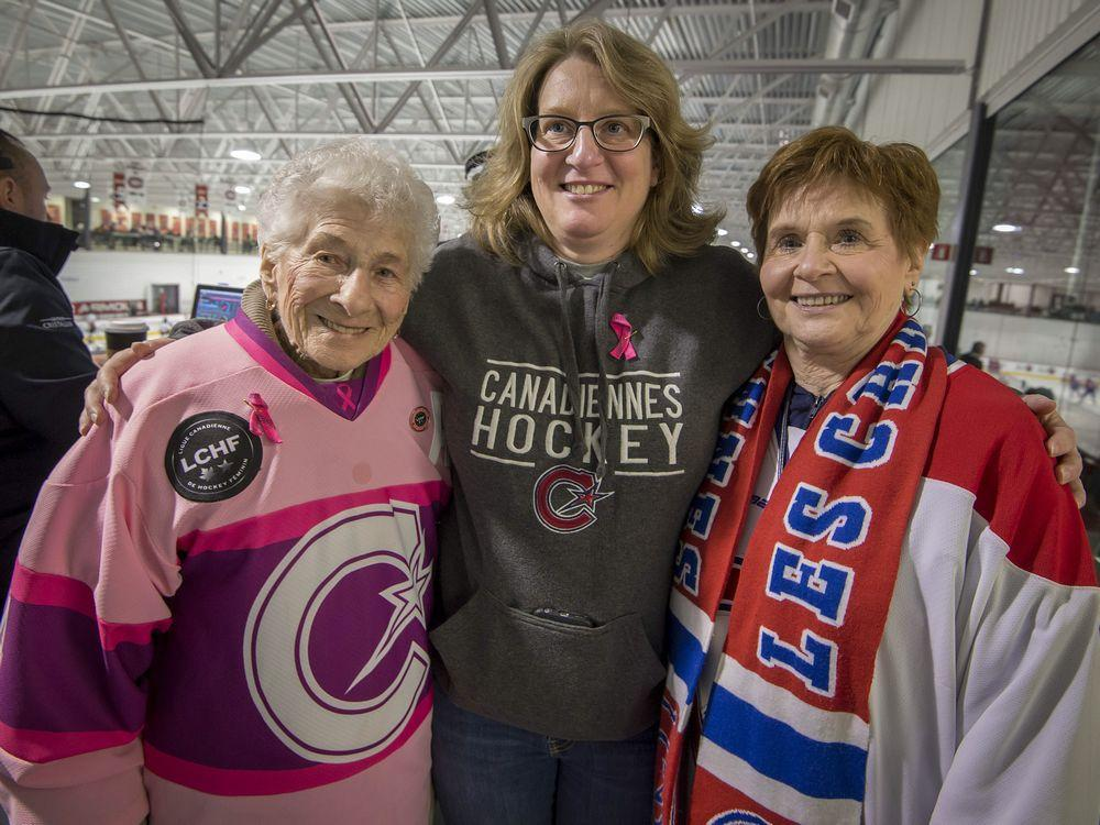 Les Canadiennes is family affair for three generations of hockey fans
