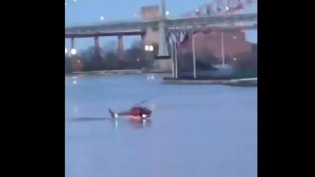 Helicopter crashes in New York East River