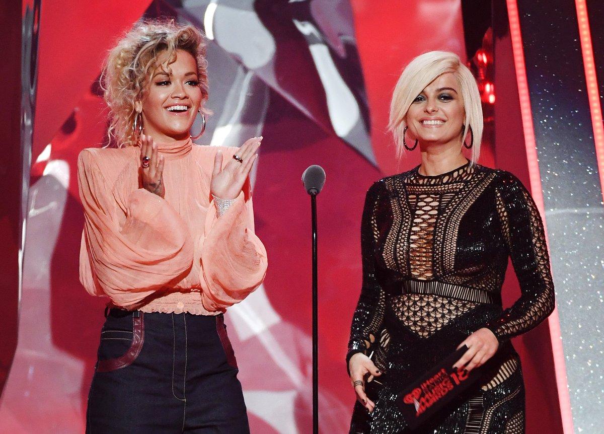 RT @iHeartRadio: Beautiful ladies. @RitaOra x @BebeRexha #iHeartAwards2018   (????: Getty Images) https://t.co/Va76IrGbch