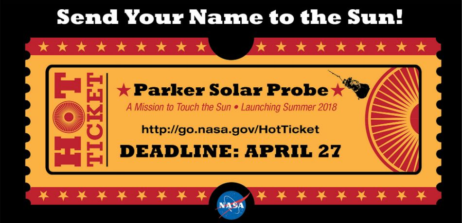 Send Your Name To The Sun With A 'Hot Ticket' From NASA