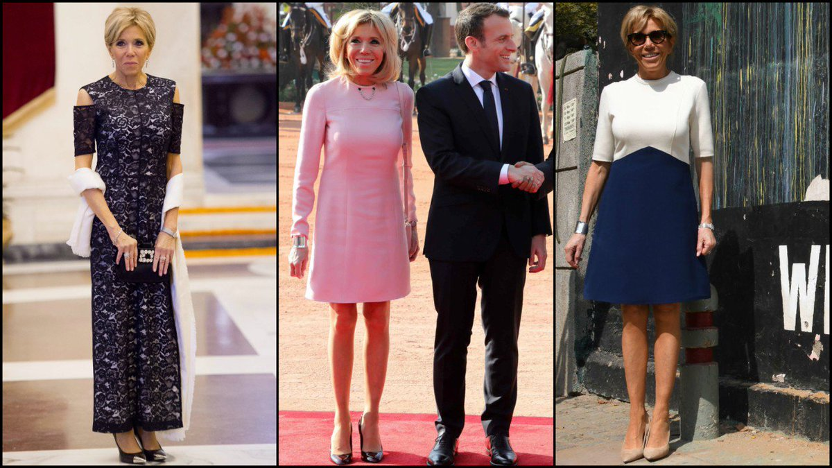 Très chic: French first lady Brigitte Macron brings fashion A-game for India visit | Latest News & Updates at