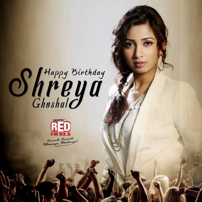 Happy birthday to my favourite singer shreya ghoshal