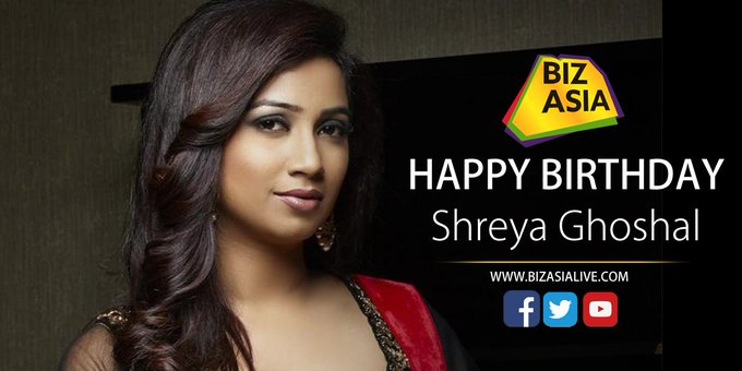 wishes Shreya Ghoshal a very happy birthday.