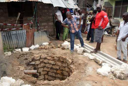 Six die after cover of septic tank caves in at a wedding