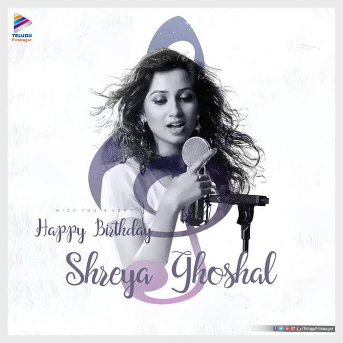 Happy bday shreya ghoshal mam