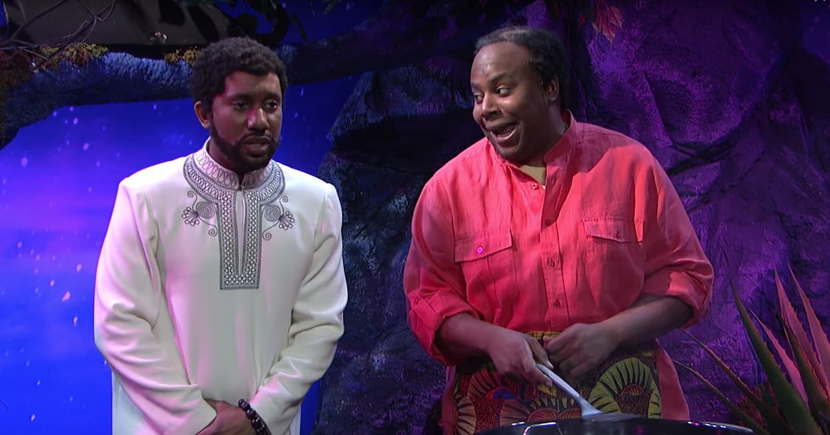 See #SNL parody #BlackPanther with a deleted scene from the film https://t.co/8pCVZIFkJh https://t.co/H2yJlfdPau