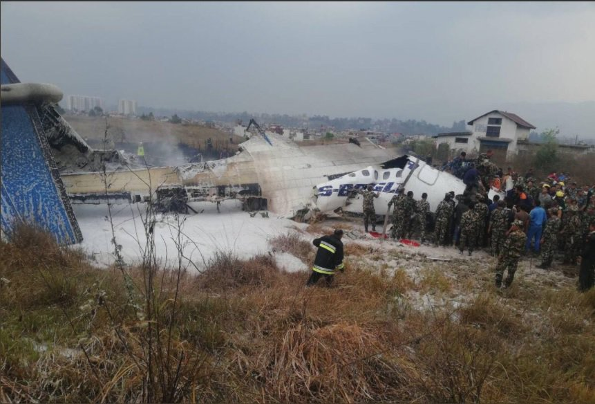 Bangladeshi passenger aircraft crashes near Kathmandu airport