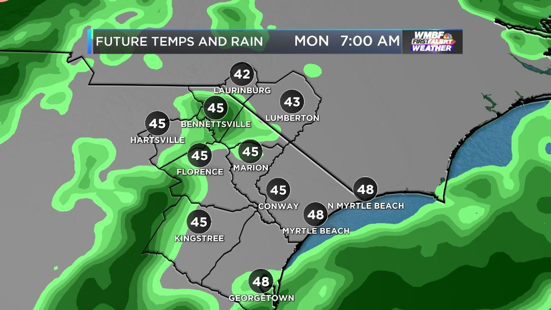 FIRST ALERT: Falling temperatures, rain make for a miserable Monday