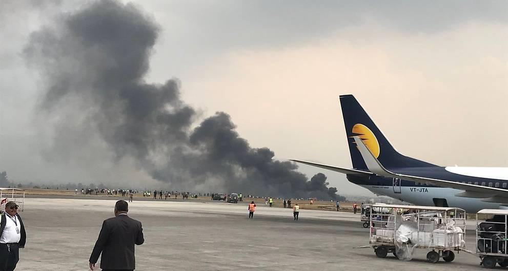 Bangladesh plane carrying 67 passengers crashes in Nepal