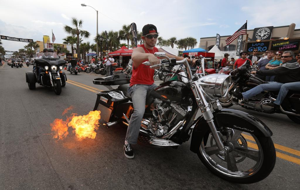 Rain likely Monday, but sunny days and clear nights for rest of Daytona Bike Week