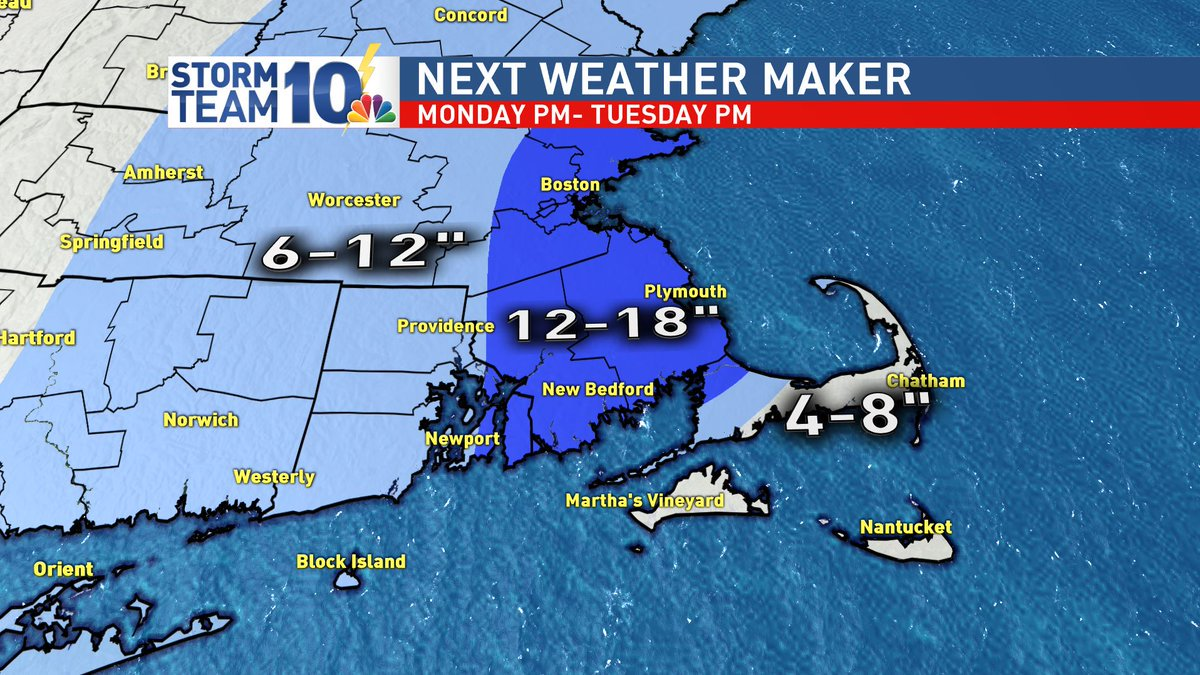 Potential major winter storm Monday night into Tuesday