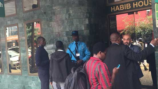 Thugs break into Nairobi's Habib Bank, steal unknown amount