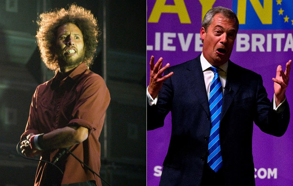 Rage Against The Machine are not happy with 'pissweasel' Nigel Farage https://t.co/lZZ7Go6STL https://t.co/dQckTi2OL9