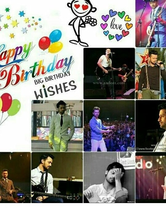 happy birthday atif aslam many many returns of the day stay blessed nd be happy......