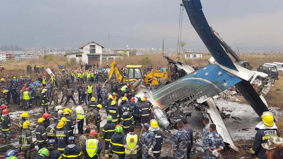 Le crash d'un avion bangladais au Népal fait au moins 40morts et 23blessés