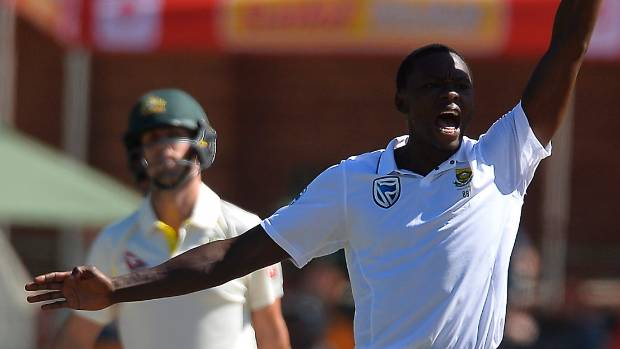 South African pace bowler Kagiso Rabada charged over David Warner send-off