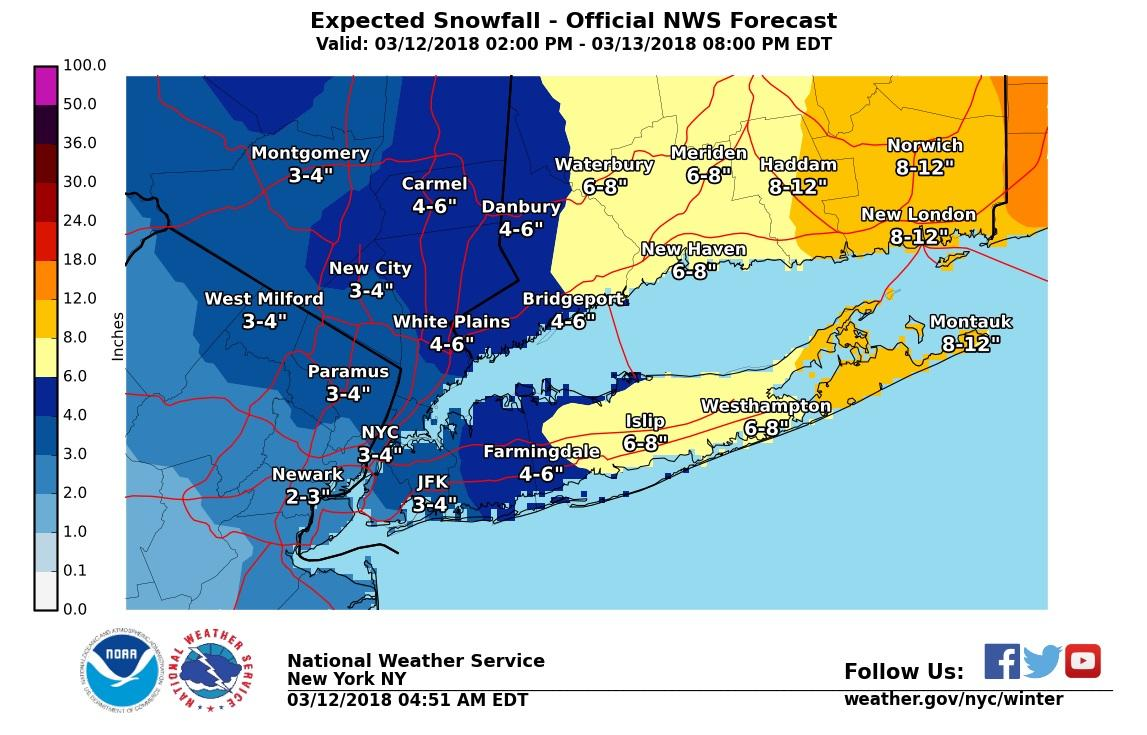 The latest: NWS posts winter storm warning