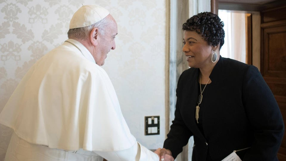 MLK's daughter, Bernice, has private audience with pope
