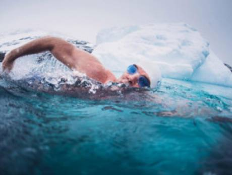 An icy water swim can be good for you