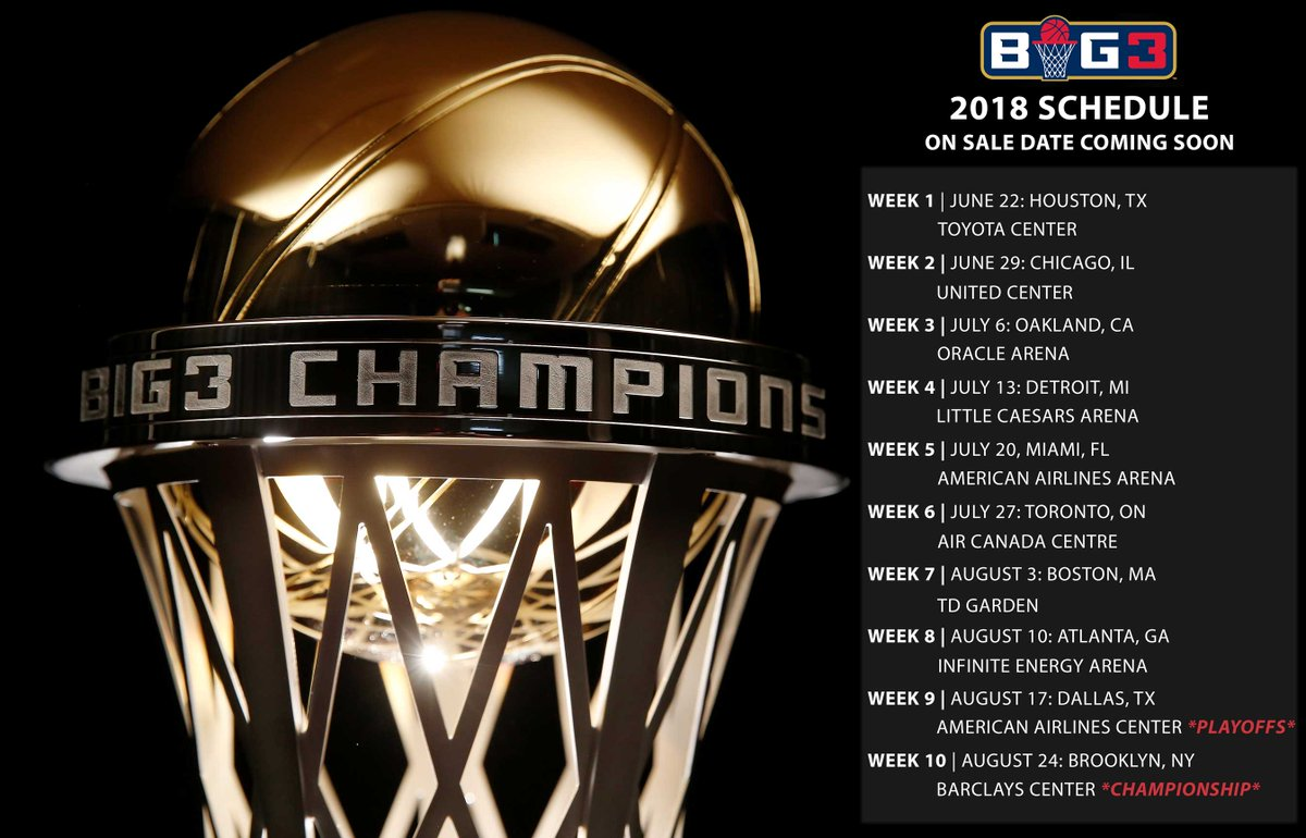 RT @thebig3: #BIG3Season2 kicks off on June 22nd in Houston! Where will you see the BIG3 during Season 2? https://t.co/xjugxbHowi