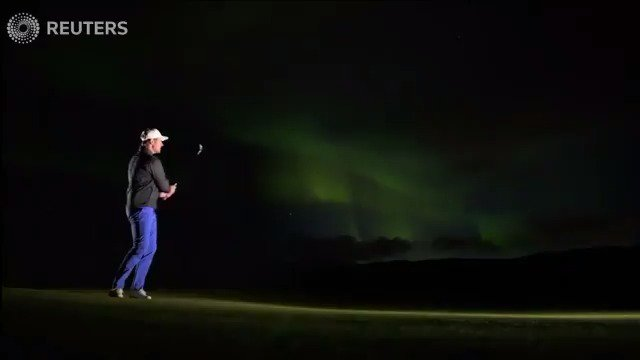 WATCH: Golfers play under the spectacular Northern Lights https://t.co/TWsHKtTxEb https://t.co/HhtHcmrF72