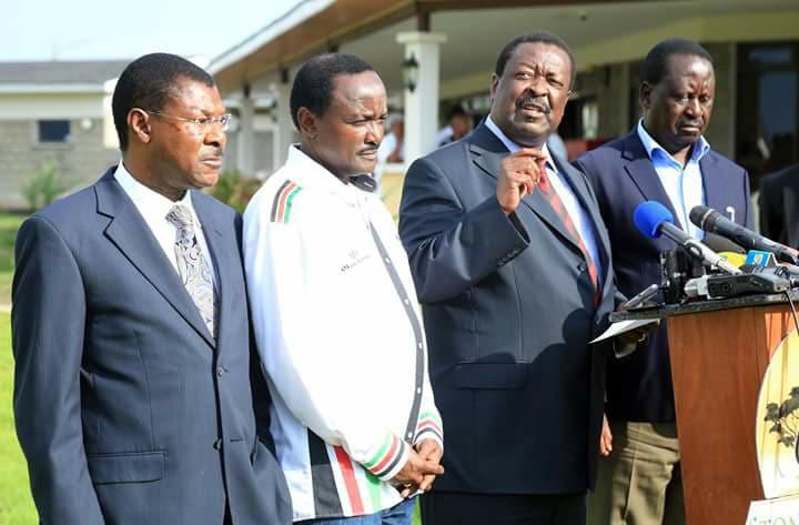 NASA co-principals Mudavadi, Kalonzo, Wetangula finally welcome Raila-Uhuru political deal