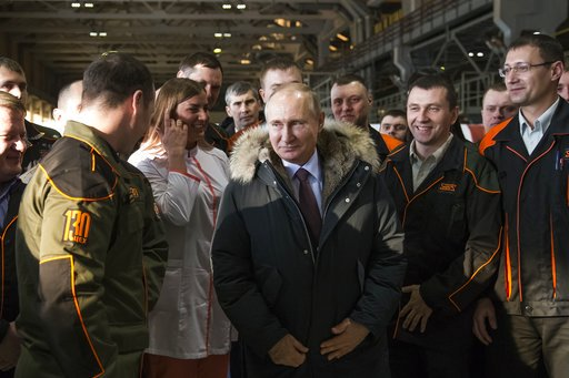 AP PHOTOS: On the campaign trail with Russian President Vladimir Putin. See more here: https://t.co/Z4IDmILSBk https://t.co/jAgzVPyJWB